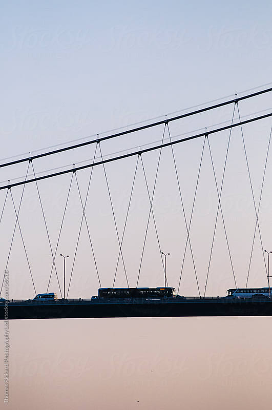 Vehicles crossing a bridge, Istanbul Turkey. by Thomas Pickard for Stocksy United