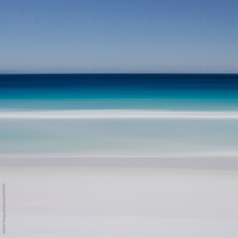 Blurred View of Lucky Bay by Adrian Young for Stocksy United