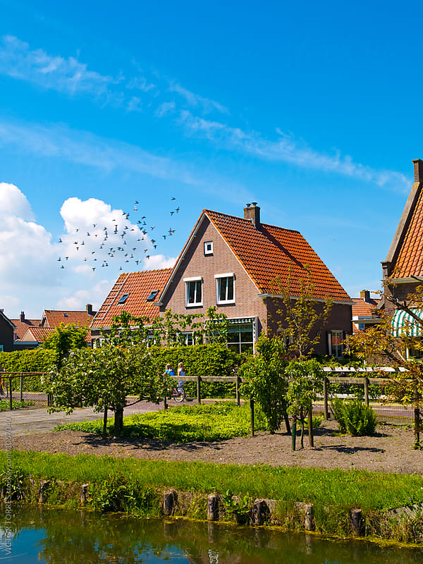 Scenics Cottages in Marken, Netherlands by Victor Torres for Stocksy United