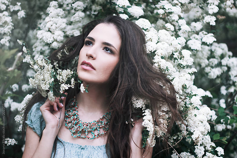 Portrait of a beautiful brunette by Jovana Rikalo for Stocksy United