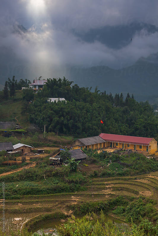 Amazing Landscape of village in Sapa, North Vietnam by Rowena Naylor for Stocksy United