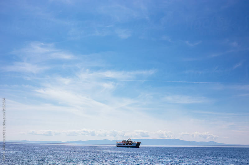 Transport boat on seaside by Marko Milovanović for Stocksy United