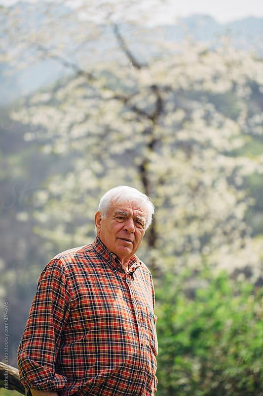 Portrait of an elderly man by michela ravasio for Stocksy United
