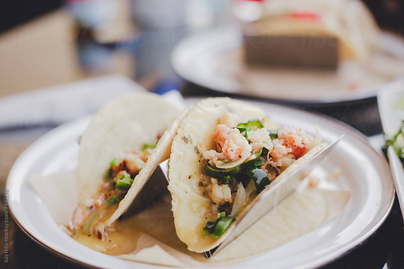 Mexican seafood tacos by luis felix for Stocksy United
