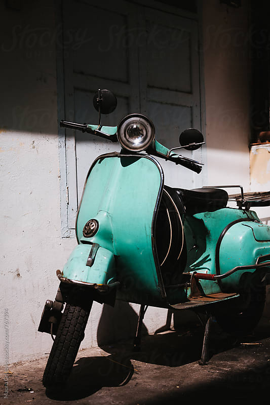 A vintage motorcycle by Mauro Grigollo for Stocksy United