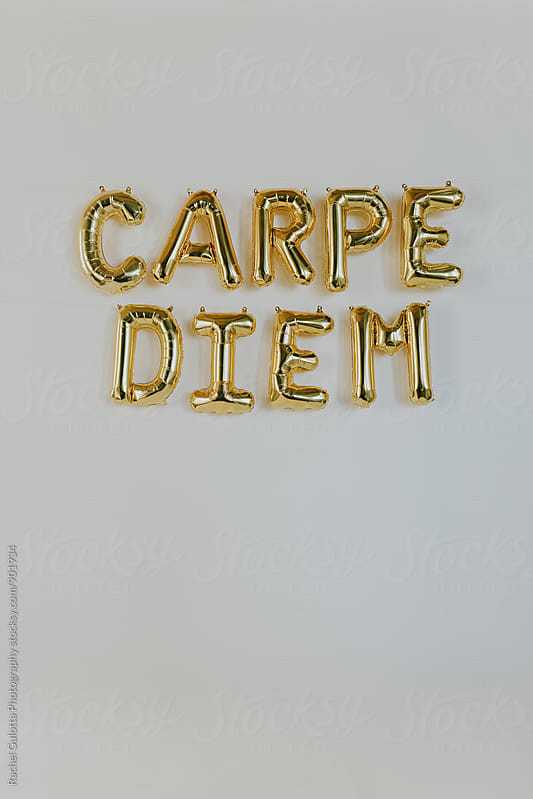 Carpe Diem Balloon Letters by Rachel Gulotta Photography for Stocksy United