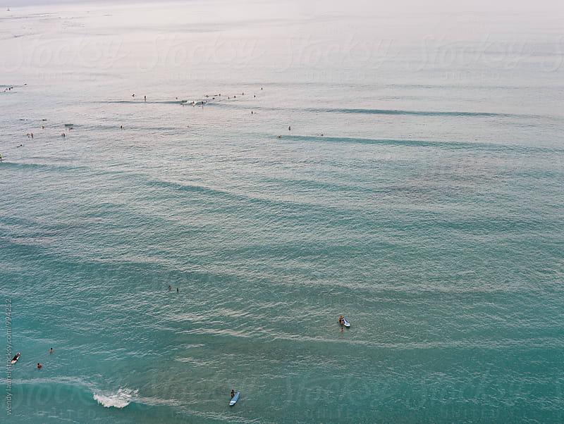 dark blue ocean at waikiki beach by wendy laurel for Stocksy United