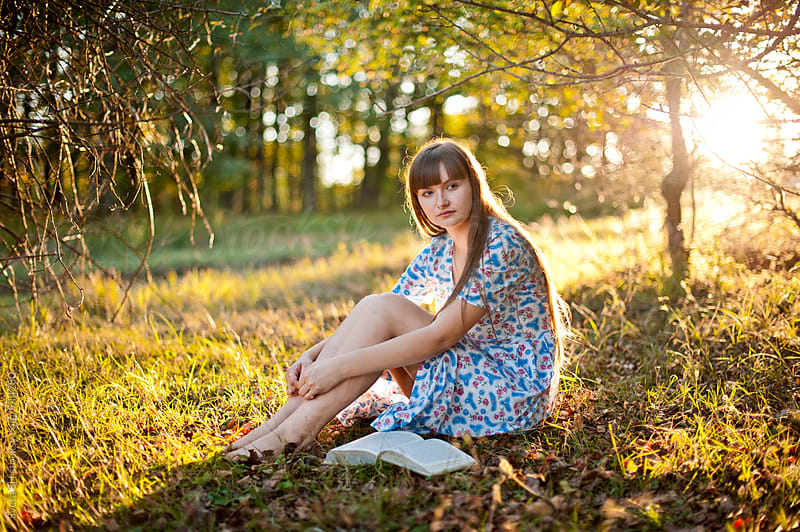 Portrait of the young girl by Svetlana Shchemeleva for Stocksy United