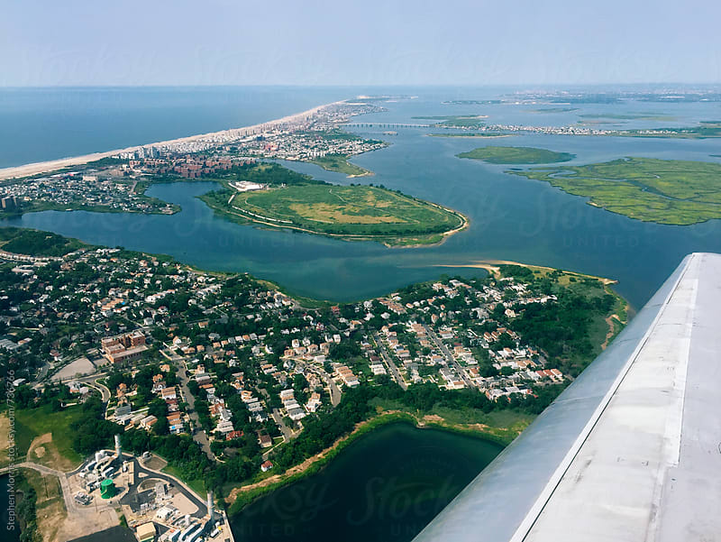 View of Far Rockaway, NY from the air by Stephen Morris for Stocksy United