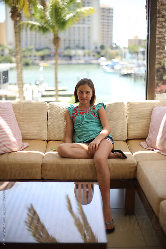 Girl Relaxing While On Vacation by ALICIA BOCK for Stocksy United