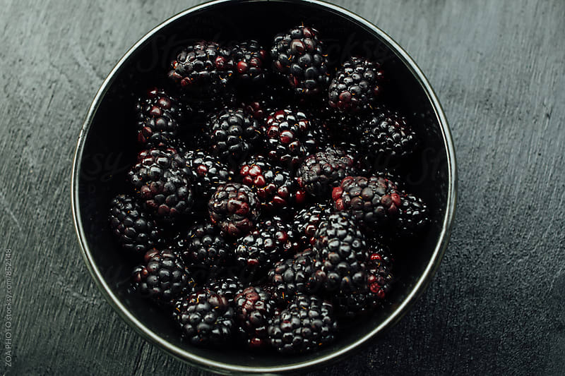 Bowl of blackberries by ZOA PHOTO for Stocksy United