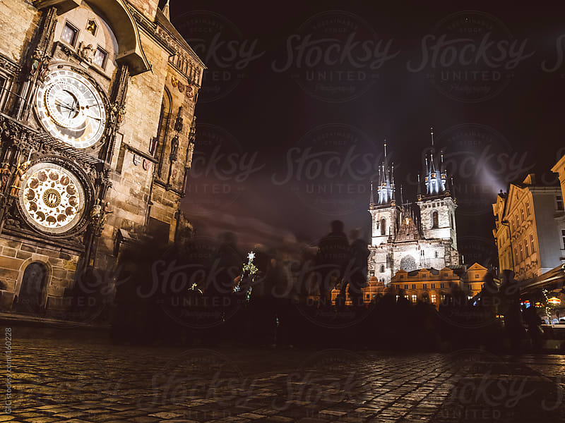 People activity in main square of Prague by GIC for Stocksy United