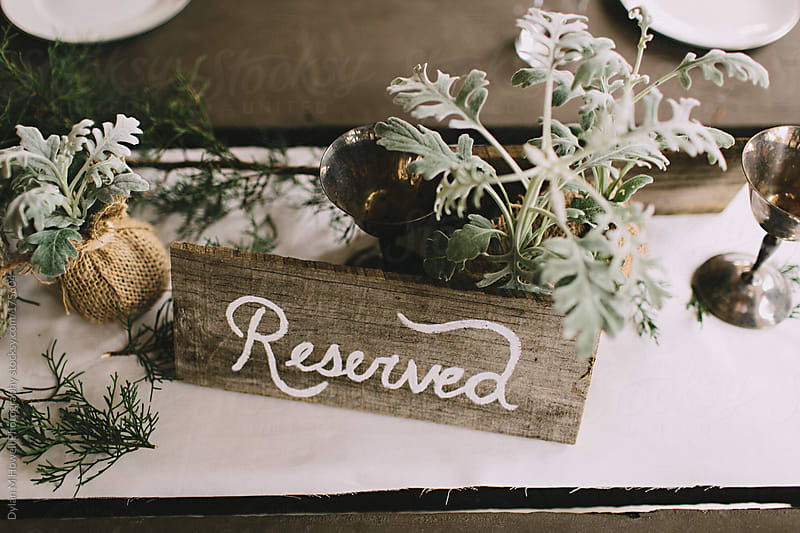 Reserved table by Dylan M Howell Photography for Stocksy United
