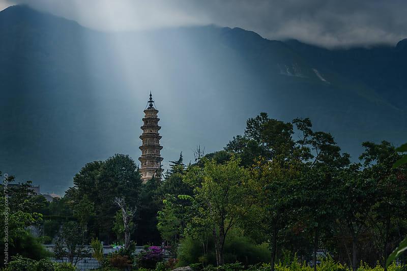 Pagoda at Chong Sheng Temple park by Maa Hoo for Stocksy United