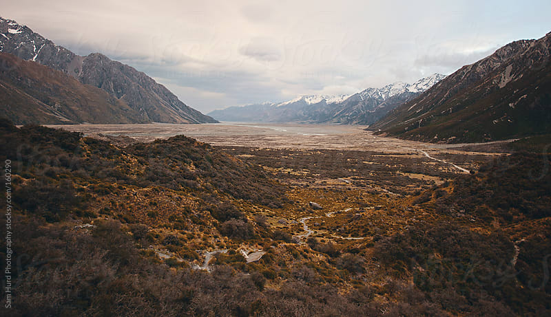 fall time mountains in nz by Sam Hurd Photography for Stocksy United