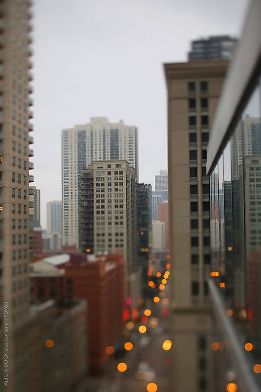 Looking At The City Lights Of Chicago On A Gray Day by ALICIA BOCK for Stocksy United
