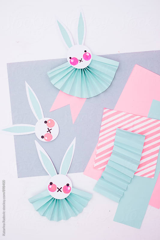 Pastel Easter Bunnies Rosettes by Katarina Radovic for Stocksy United