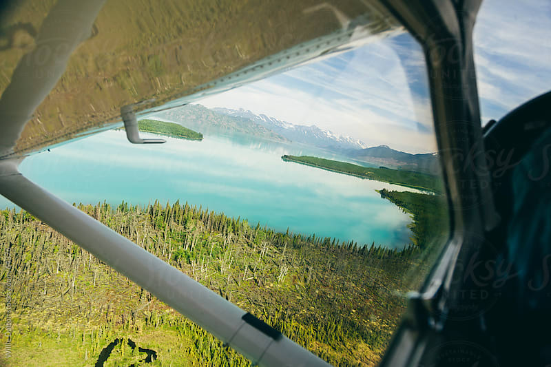 Aerial Alaska Landscape from a Seaplane  by Willie Dalton for Stocksy United