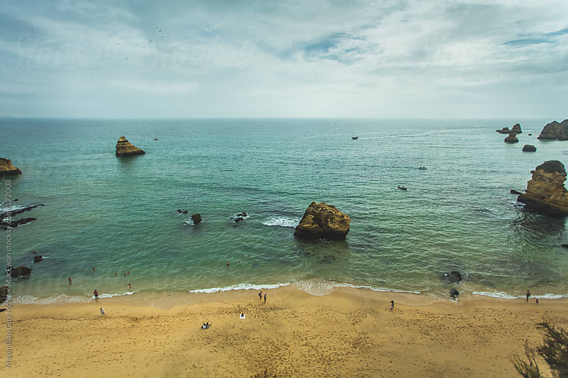 The golden coastline of Portgual by Maximilian Guy McNair MacEwan for Stocksy United