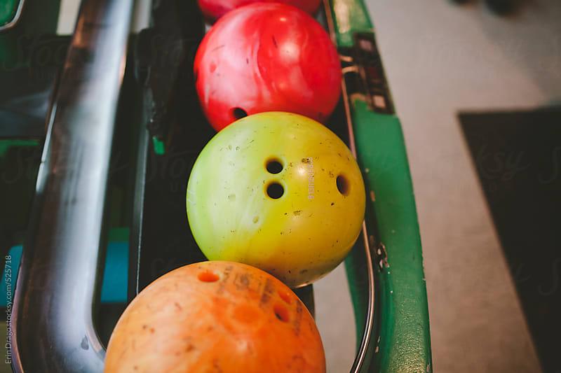 bowling balls by Erin Drago for Stocksy United