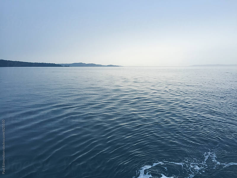 View of Puget Sound from ferry boat, Seattle, WA, USA by Paul Edmondson for Stocksy United