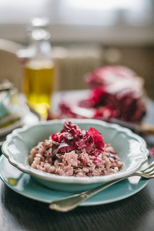 Risotto with radicchio by Davide Illini for Stocksy United