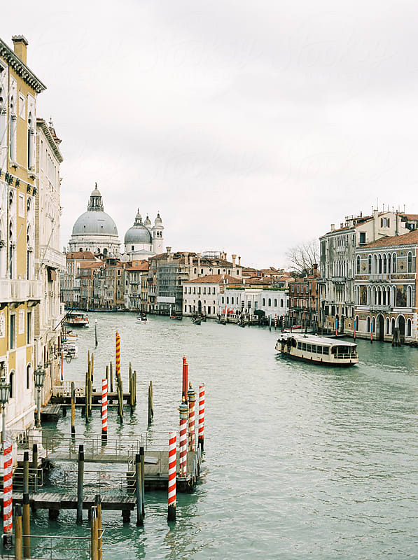 View of Grand Canal from Accademia Bridge, Venice by Kirstin Mckee for Stocksy United