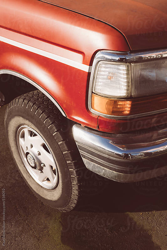 Detail of vintage pickup truck by Paul Edmondson for Stocksy United