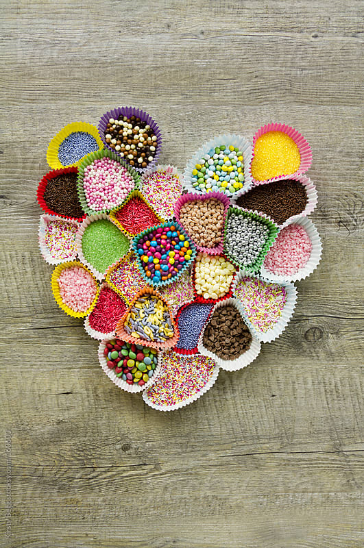 Heart of sprinkles by Kirsty Begg for Stocksy United