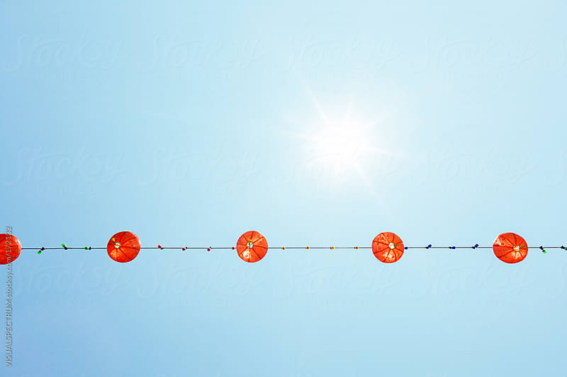 Chinese Lanterns by VISUALSPECTRUM for Stocksy United