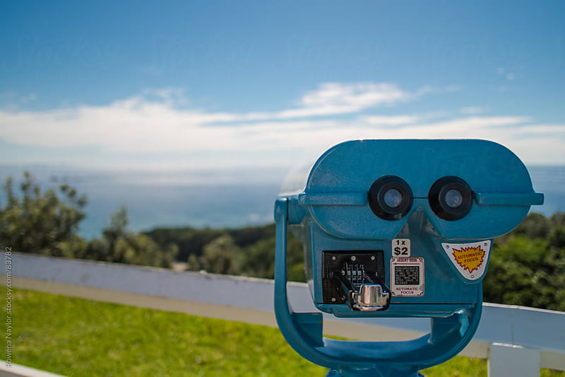 Viewing Binoculars at Byron Bay, Australia by Rowena Naylor for Stocksy United
