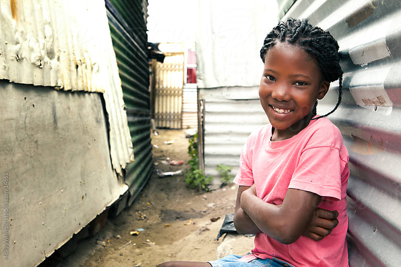 Cute African township girl by Micky Wiswedel for Stocksy United