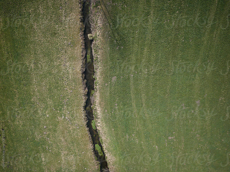 Aerial view of a river land by rolfo for Stocksy United
