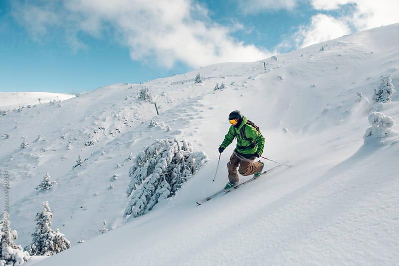 Telemark skier by Jordi Rulló for Stocksy United