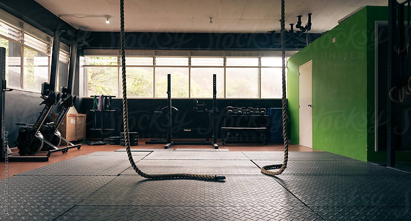 Empty fitness gym studio by Gabriel Diaz for Stocksy United