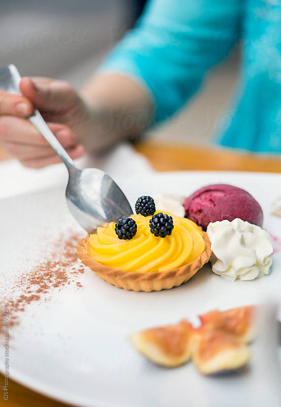 Plate of dessert. by IDS Photography for Stocksy United
