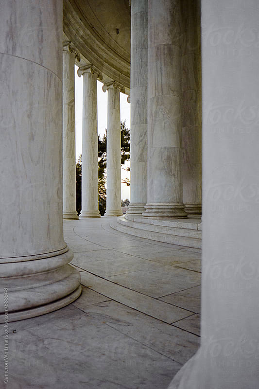 Columns at the Jefferson Memorial in Washington DC by Cameron Whitman for Stocksy United