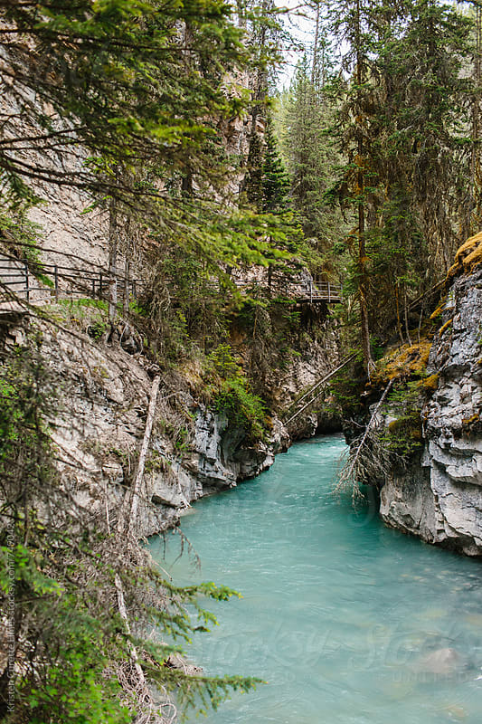 Johnston Canyon in the Banff national park canada by Kristen Curette Hines for Stocksy United