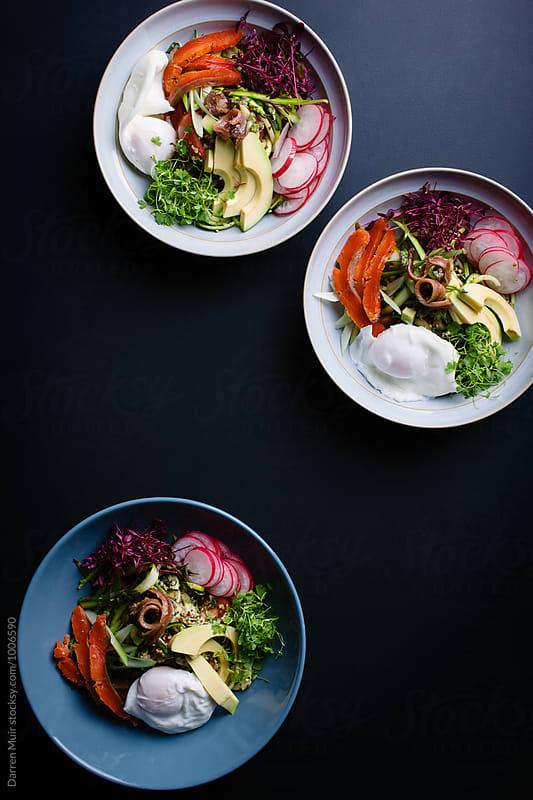 Healthy salad bowls.  by Darren Muir for Stocksy United