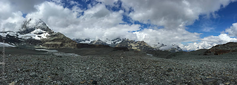 Panorama with the Matterhorn by Neil Warburton for Stocksy United