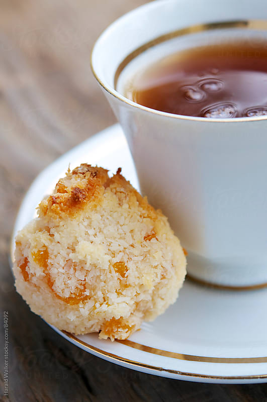 Vegan Apricot Coconut Macaroons by Harald Walker for Stocksy United