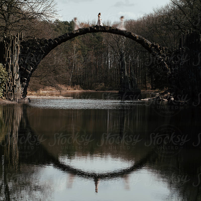 Woman and bridge concept by Jovana Rikalo for Stocksy United