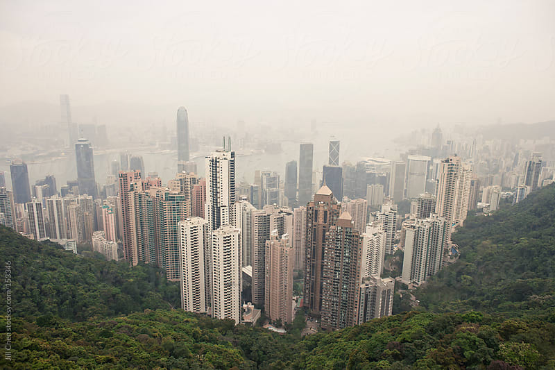Hong Kong Aerial by Jill Chen for Stocksy United