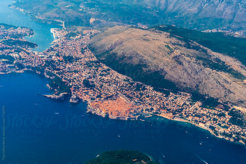 Aerial View of Dubrovnik, Croatia by Tom Uhlenberg for Stocksy United