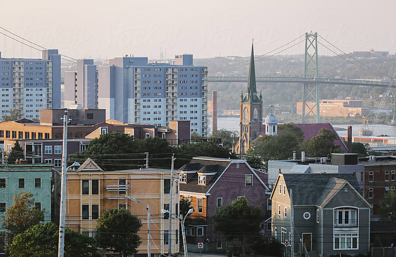 Halifax city buildings by Matthew Spaulding for Stocksy United