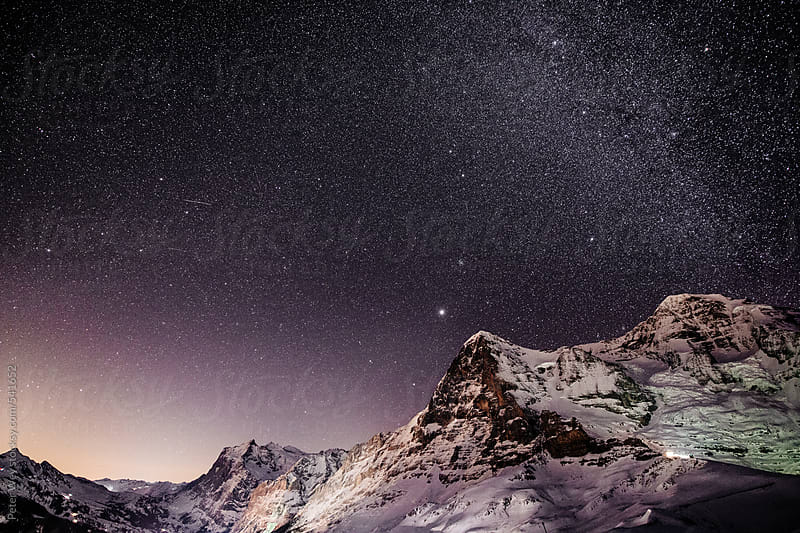 Nightscape from Lauberhorn by Peter Wey for Stocksy United
