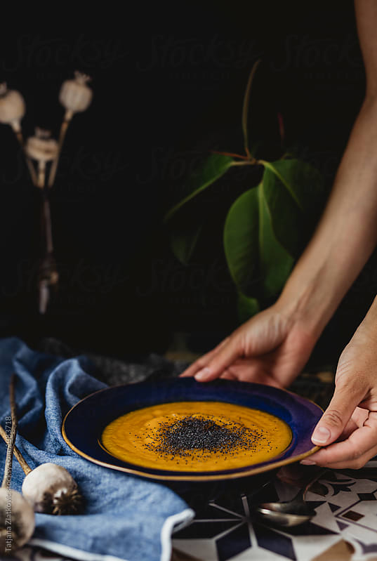 Pumpkin soup by Tatjana Ristanic for Stocksy United
