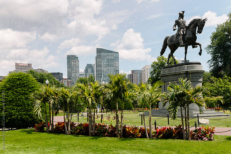 Summer At the Boston Public Garden by Raymond Forbes LLC for Stocksy United