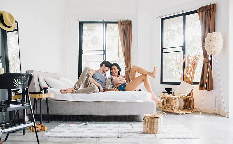 Couple in Love Relaxing at Home by Lumina for Stocksy United