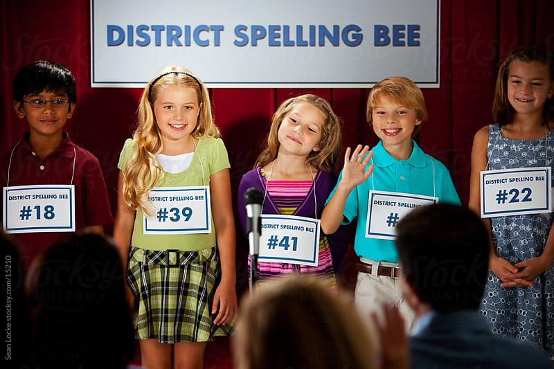 Spelling: Kids Waiting to Start Spelling Bee by Sean Locke for Stocksy United